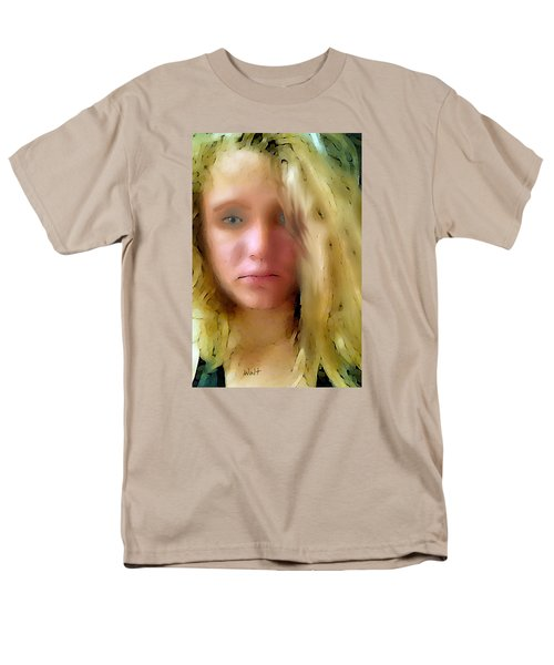 Men's T-Shirt  (Regular Fit) featuring the digital art Young Woman by Walter Chamberlain