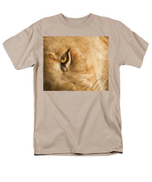 Your Lion Eye Men's T-Shirt  (Regular Fit) by Carolyn Marshall