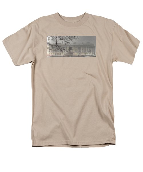 Men's T-Shirt  (Regular Fit) featuring the pyrography Yury Bashkin The Fog Peterburg by Yury Bashkin