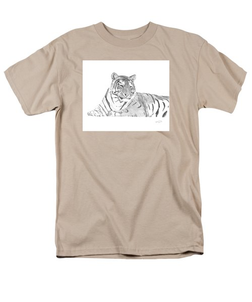 Men's T-Shirt  (Regular Fit) featuring the drawing Zarina A Siberian Tiger by Patricia Hiltz
