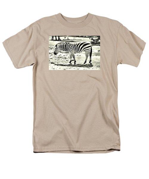Zebra In Black And White Men's T-Shirt  (Regular Fit) by James Potts
