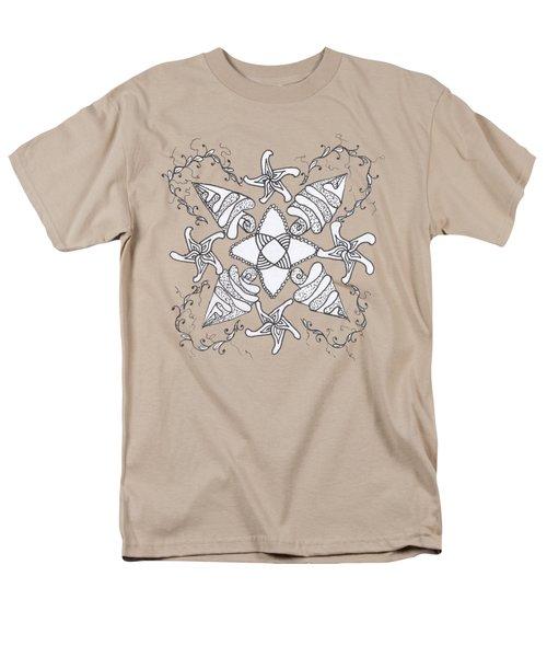 Zendala On The Beach Men's T-Shirt  (Regular Fit) by Lori Kingston