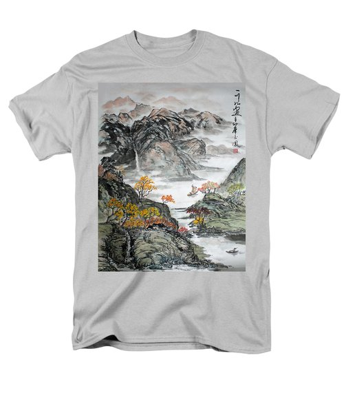 Men's T-Shirt  (Regular Fit) featuring the painting Autumn  by Yufeng Wang