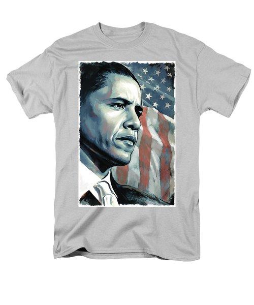 Barack Obama Artwork 2 Men's T-Shirt  (Regular Fit) by Sheraz A