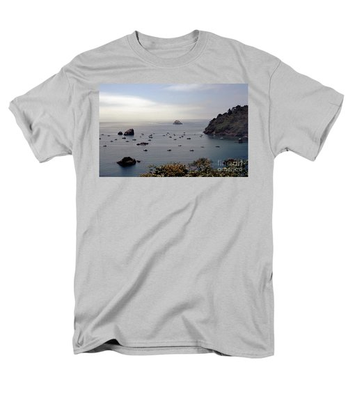 Men's T-Shirt  (Regular Fit) featuring the photograph Busy Harbor by Sharon Elliott