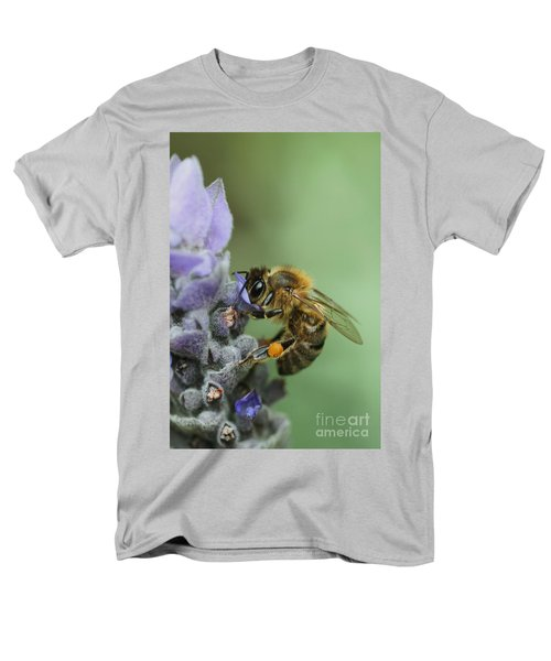 Men's T-Shirt  (Regular Fit) featuring the photograph Happy Bee by Joy Watson