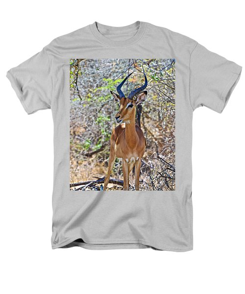 Male Impala In Kruger National Park-south Africa   Men's T-Shirt  (Regular Fit) by Ruth Hager