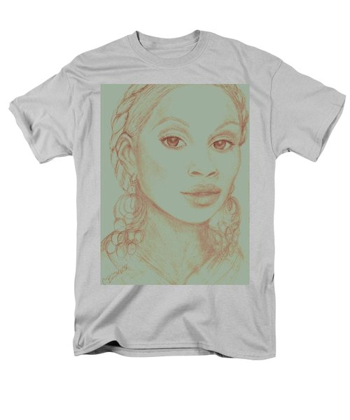 Men's T-Shirt  (Regular Fit) featuring the drawing Mary J Blige by Christy Saunders Church
