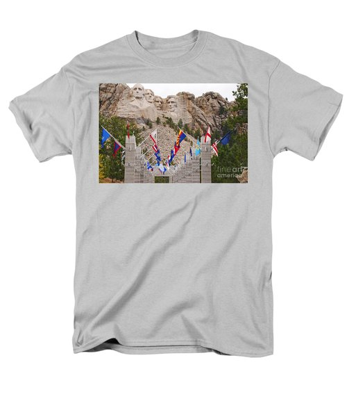 Men's T-Shirt  (Regular Fit) featuring the photograph Patriotic Faces by Mary Carol Story