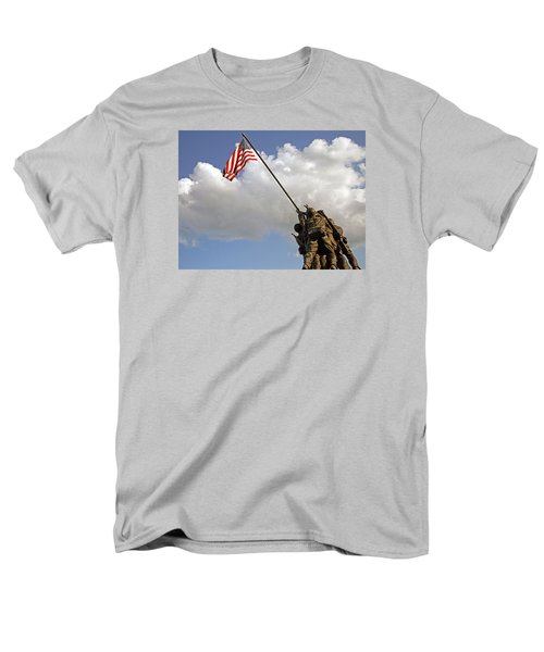 Men's T-Shirt  (Regular Fit) featuring the photograph Raising The American Flag by Cora Wandel