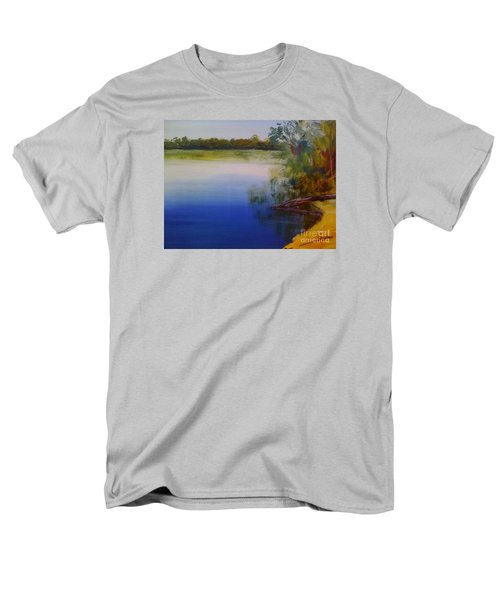 Men's T-Shirt  (Regular Fit) featuring the painting Still Waters - Original Sold by Therese Alcorn