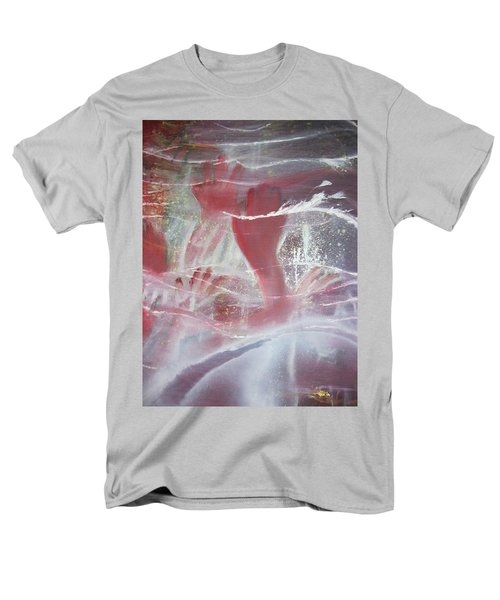 Men's T-Shirt  (Regular Fit) featuring the painting String Theory - Praise by Carrie Maurer