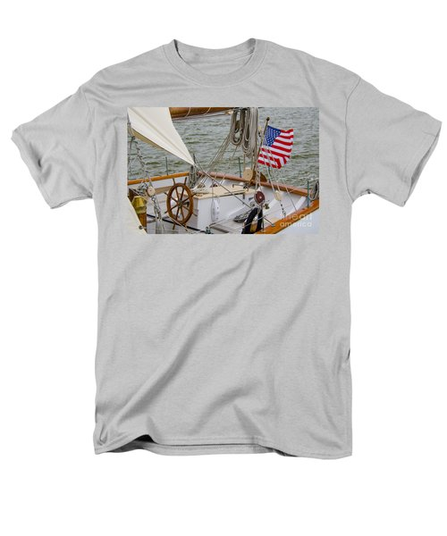Tall Ship Wheel Men's T-Shirt  (Regular Fit) by Dale Powell