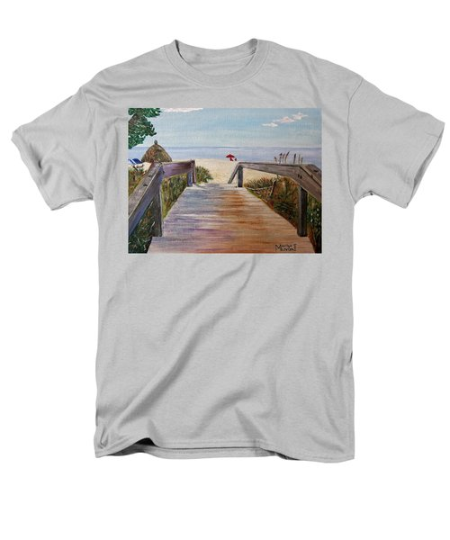 Men's T-Shirt  (Regular Fit) featuring the painting To The Beach by Marilyn  McNish