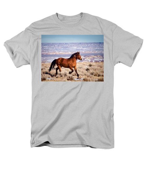 Eagle - Wild Horse Stallion Men's T-Shirt  (Regular Fit) by Nadja Rider