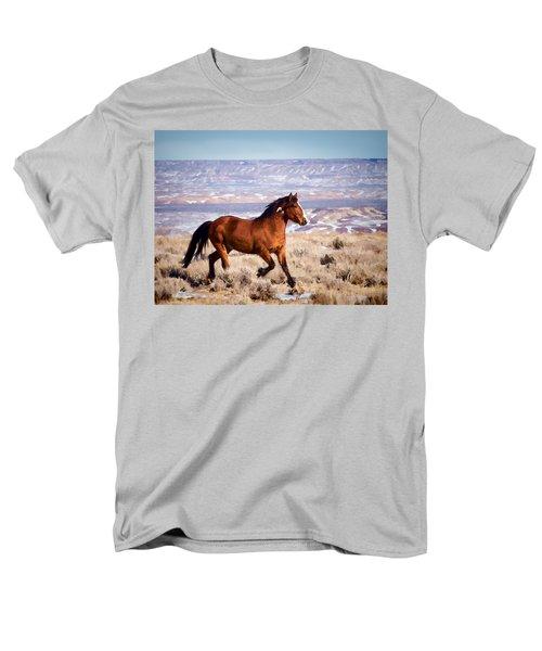 Eagle - Wild Horse Stallion Men's T-Shirt  (Regular Fit)
