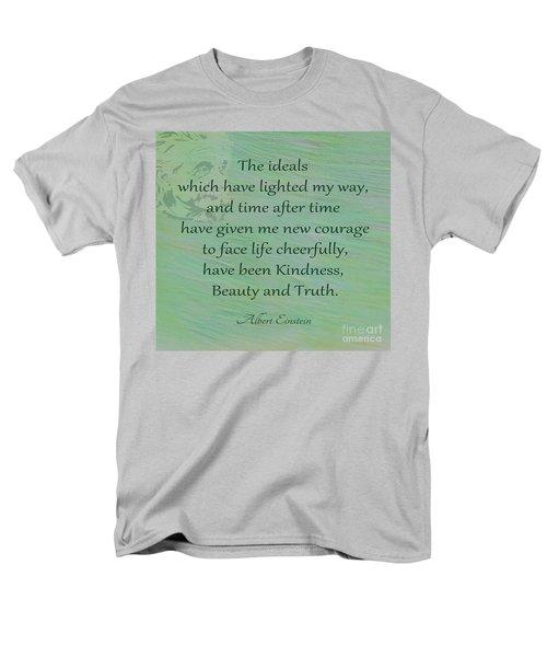 132- Albert Einstein Men's T-Shirt  (Regular Fit) by Joseph Keane