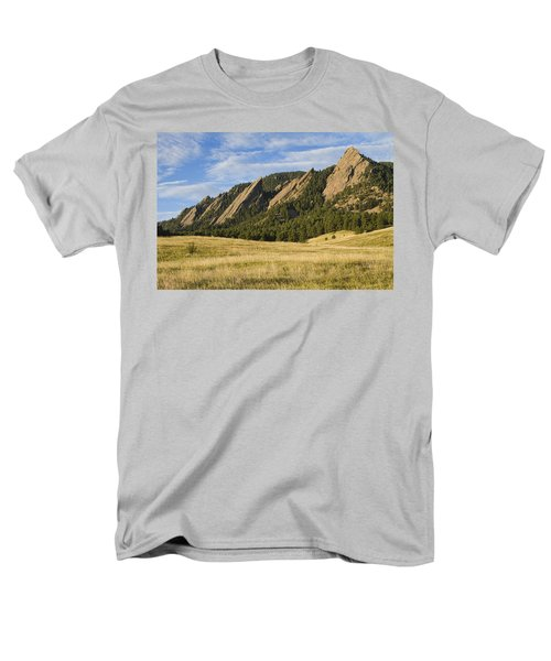 Flatirons With Golden Grass Boulder Colorado Men's T-Shirt  (Regular Fit) by James BO  Insogna
