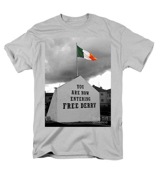 Free Derry Wall Men's T-Shirt  (Regular Fit) by Nina Ficur Feenan