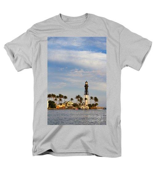 Hillsboro Inlet Lighthouse Men's T-Shirt  (Regular Fit) by Les Palenik