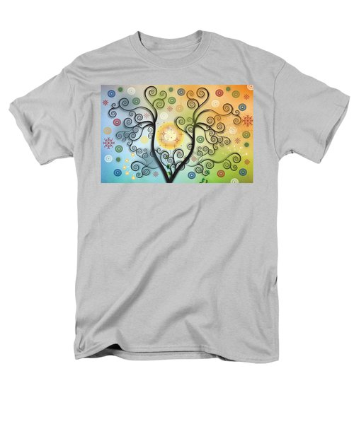 Men's T-Shirt  (Regular Fit) featuring the digital art Moon Swirl Tree by Kim Prowse