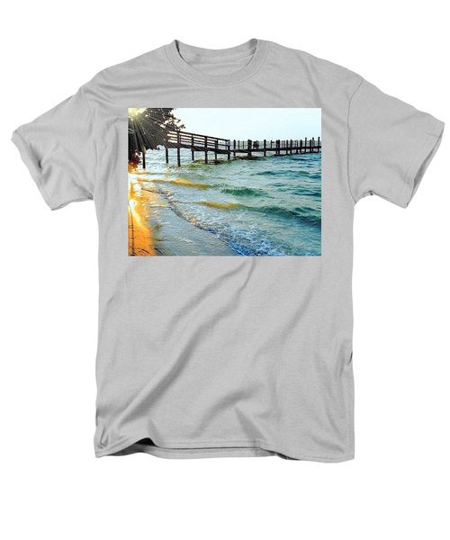 Men's T-Shirt  (Regular Fit) featuring the photograph Sanibel At Sunset by Janette Boyd