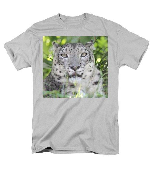 Snow Leopard Men's T-Shirt  (Regular Fit) by John Telfer