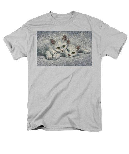 Men's T-Shirt  (Regular Fit) featuring the painting White On White by Cynthia House