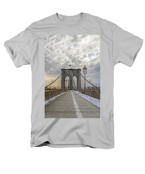 Men's T-Shirt  (Regular Fit) featuring the photograph Brooklyn Bridge by Jerry Gammon