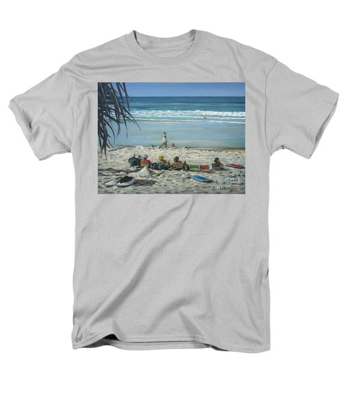 Men's T-Shirt  (Regular Fit) featuring the painting Burleigh Beach 220909 by Selena Boron
