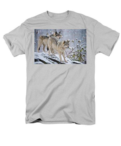 Timber Wolves Men's T-Shirt  (Regular Fit) by Michael Cummings
