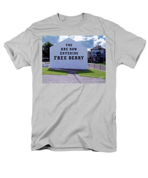 Free Derry Corner Men's T-Shirt  (Regular Fit) by Nina Ficur Feenan