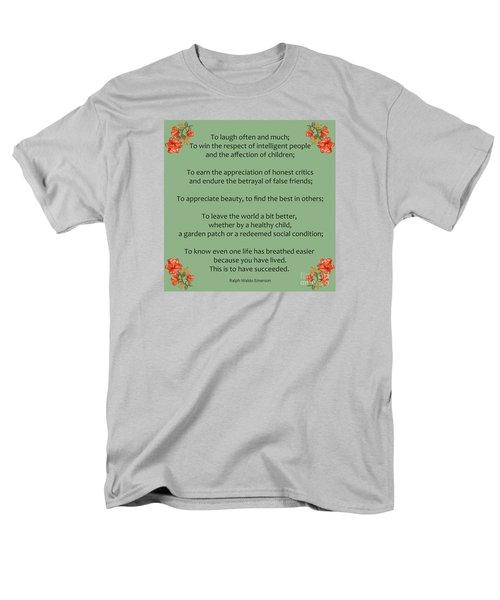 75- Ralph Waldo Emerson Men's T-Shirt  (Regular Fit) by Joseph Keane