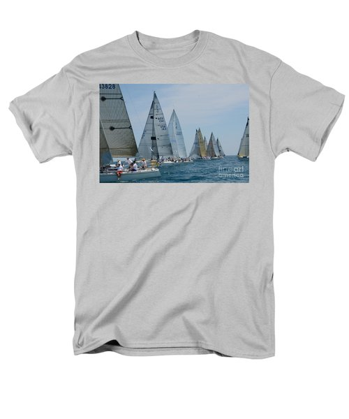 Sailboat Race Men's T-Shirt  (Regular Fit) by Randy J Heath