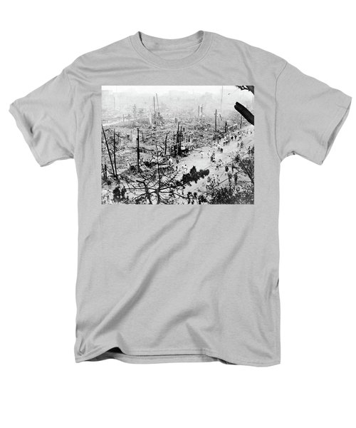 Men's T-Shirt  (Regular Fit) featuring the photograph Tokyo Earthquake, 1923 by Granger