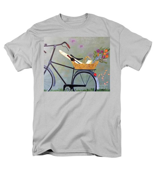 A Bicycle Break Men's T-Shirt  (Regular Fit) by Brenda Brown