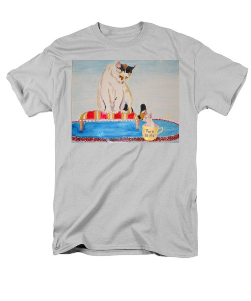 Men's T-Shirt  (Regular Fit) featuring the painting A Cup Of Chihuahua by Phyllis Kaltenbach