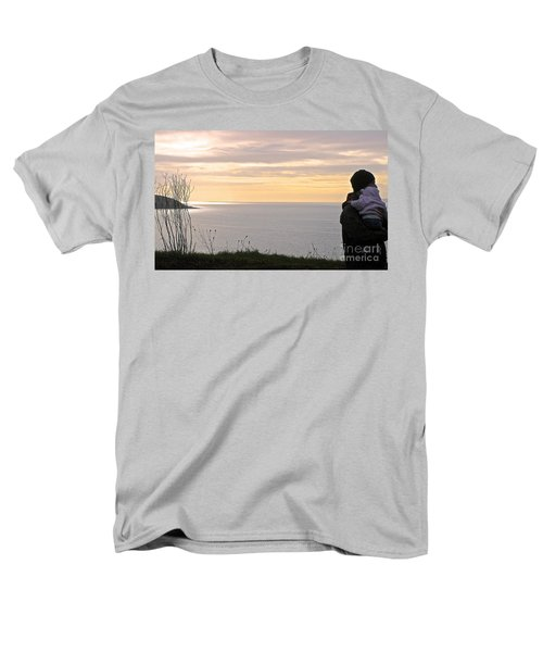 Men's T-Shirt  (Regular Fit) featuring the photograph A Father's Love by Suzanne Oesterling