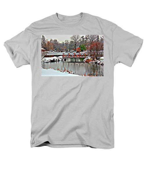 Men's T-Shirt  (Regular Fit) featuring the photograph A Light Dusting Of Snow by Judy Palkimas