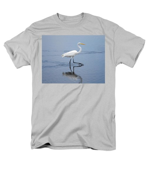 Men's T-Shirt  (Regular Fit) featuring the photograph A Stroll In The Marsh by John M Bailey