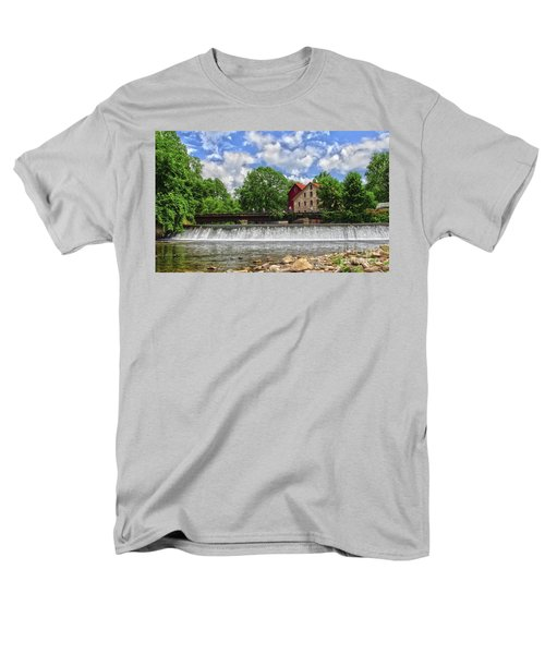Men's T-Shirt  (Regular Fit) featuring the photograph A View Of The Mill From The River by Debra Fedchin