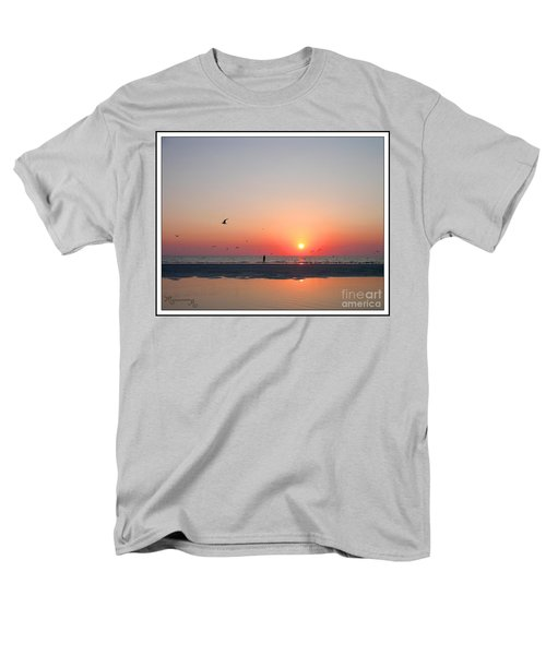 Men's T-Shirt  (Regular Fit) featuring the photograph A Walk At Sunset by Mariarosa Rockefeller