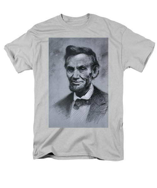 Men's T-Shirt  (Regular Fit) featuring the drawing Abraham Lincoln by Viola El