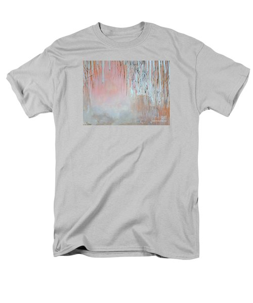 Men's T-Shirt  (Regular Fit) featuring the painting Abstract Spring by Donna Dixon