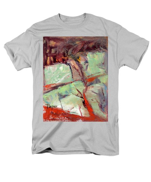 Men's T-Shirt  (Regular Fit) featuring the painting Abstract With Cadmium Red by Betty Pieper
