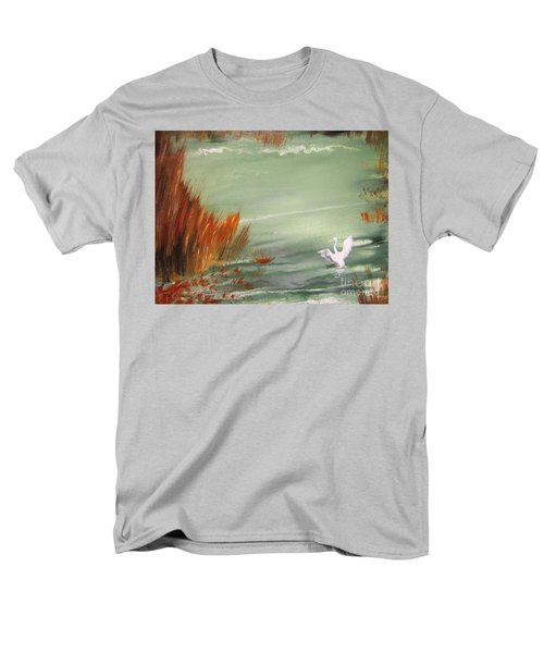 Men's T-Shirt  (Regular Fit) featuring the painting Achieving Stillness2 by Laurianna Taylor