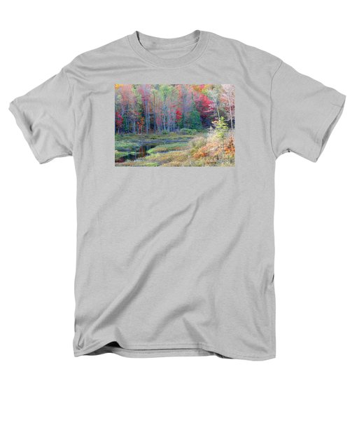 Men's T-Shirt  (Regular Fit) featuring the photograph Adirondack Fall by Mariarosa Rockefeller