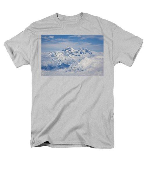 Aerial View Of Mount Everest Men's T-Shirt  (Regular Fit) by Hitendra SINKAR