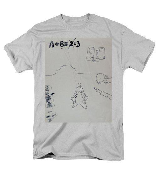 Men's T-Shirt  (Regular Fit) featuring the drawing Algebra by Erika Chamberlin