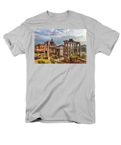Ancient Roman Forum Ruins - Impressions Of Rome Men's T-Shirt  (Regular Fit) by Georgia Mizuleva